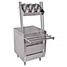 Вега Прилавок для столовых приборов и подносов комплект 3ПП-1-6