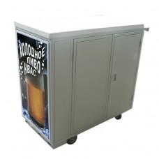 Ролл-бар Дельта без оборуд для охл нап с дверцами на 1 кег