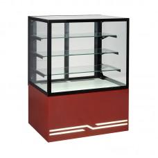 Витрина кондитерская охлаждаемая Unis Cube 100 красный